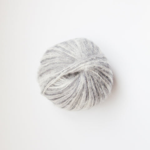 Alpaca suri silk handpaints yarn - multi greys