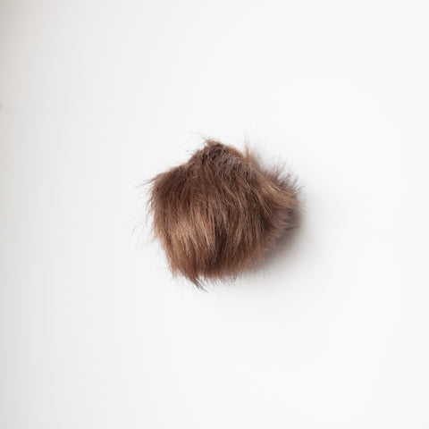 Faux Fur Pom Pom - Brown