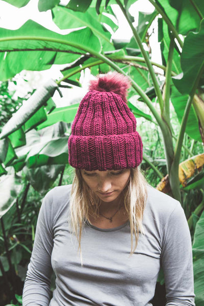 FREE Beanie knitting pattern download 1021 - Ribbed Abbraccio