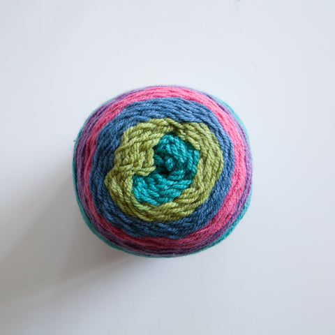 Magic Colour Yarn Cakes 10 Ply Acrylic Polyester Wool Mix - Multi Colour