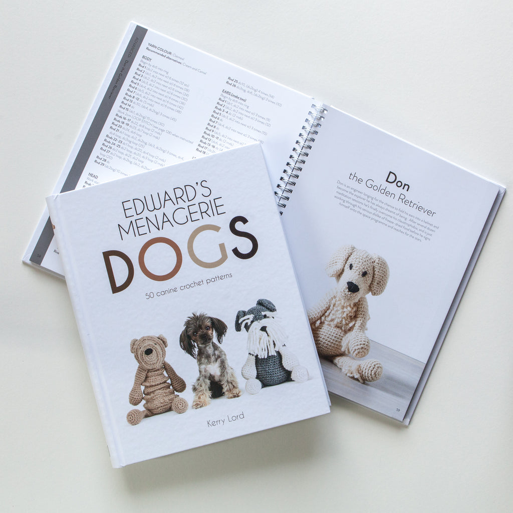 Edwards Menagerie Dogs Crochet Pattern Book Woolworx