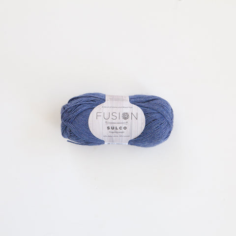 Fusion Sulco Llama/Lyocell 3 - 4 Ply Wool Equivalent - Mid Blue