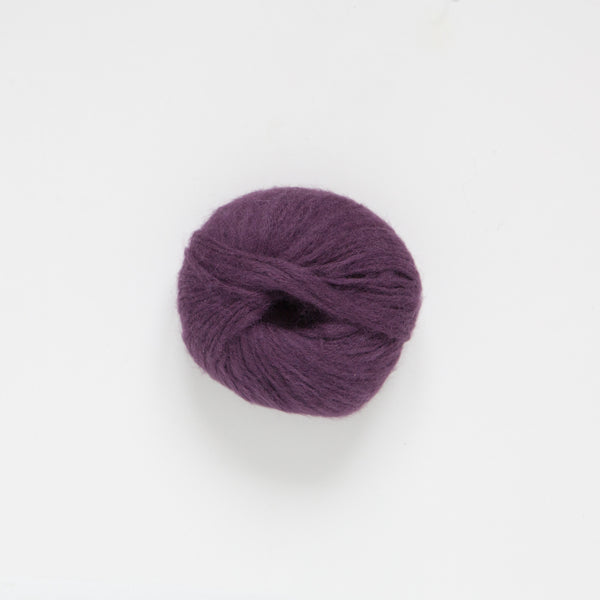 Brushed Baby Alpaca 14ply Wool Equivalent - Aubergine