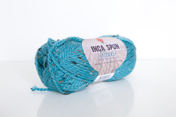 Inca Spun Tweed Alpaca Merino Donegal 10ply Wool - Teal