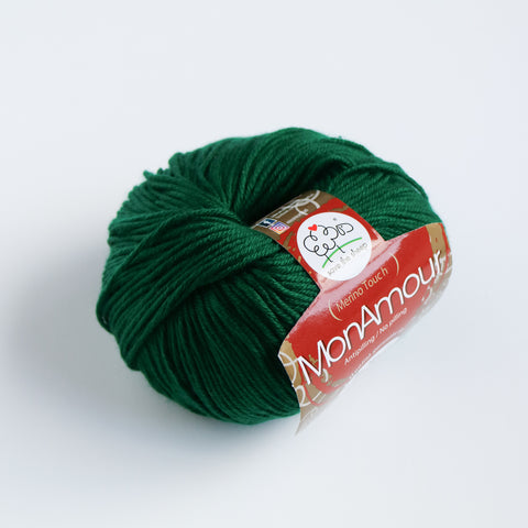 Italian Mon Amour Microfiber 8 Ply - Bottle Green - 15