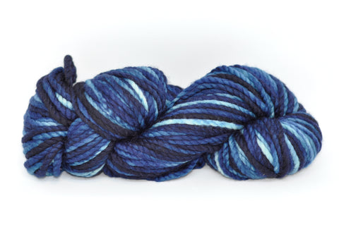 Koigu Othello Hand Paint Merino Chunky Knit Mid Blues