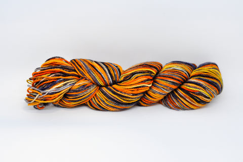 Koigu Hand Paint 4 Ply Orange/Blue Mix
