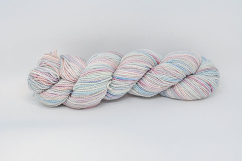 Koigu Hand Paint 4 Ply pale blue pink mix