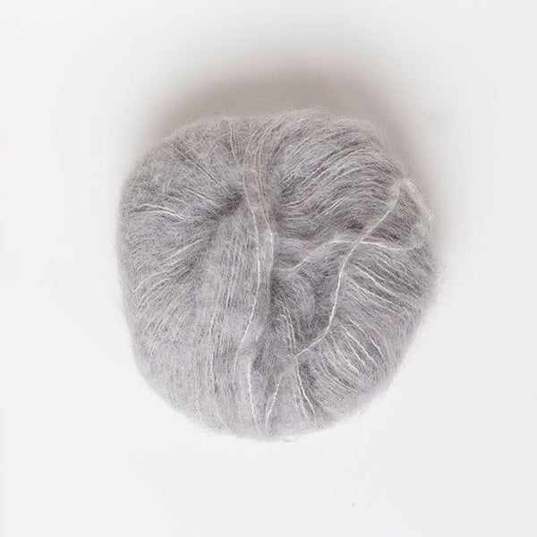 Alpaca Suri Silk Brushed 4 Ply Wool Equivalent - Soft Grey