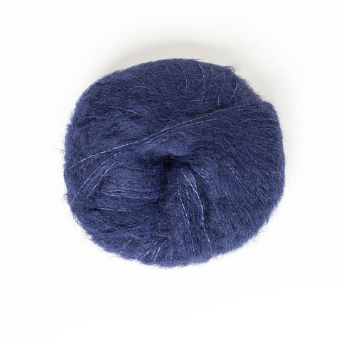 Alpaca Suri Silk Brushed 4 Ply Wool Equivalent - Navy