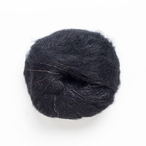 Alpaca Suri Silk Brushed 4 Ply Wool Equivalent - Black