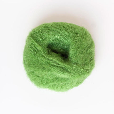 Alpaca Suri Silk Brushed 4 Ply Wool Equivalent - Lime