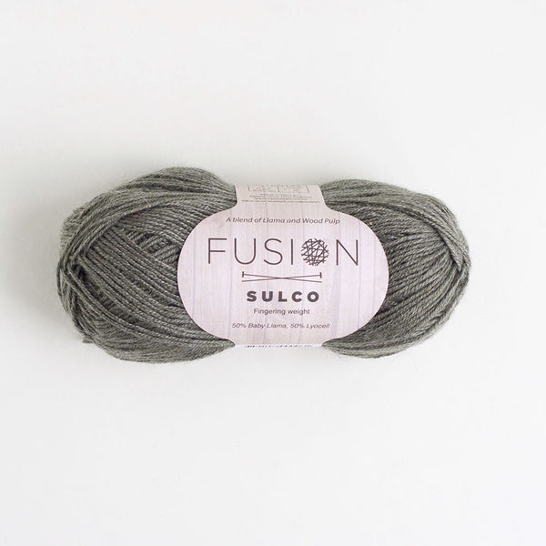 Fusion Sulco Llama/Lyocell 3 - 4 Ply Wool Equivalent - Charcoal