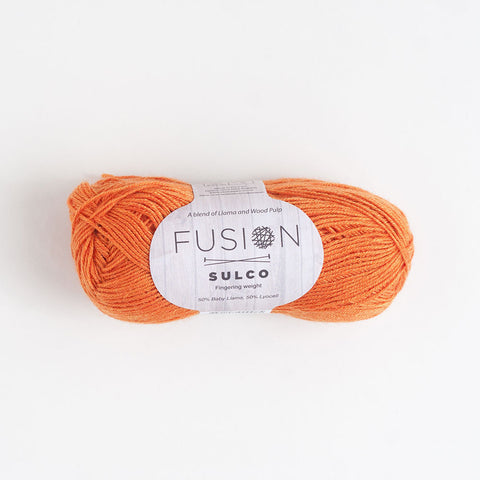 Fusion Sulco Llama/Lyocell 3 - 4 Ply Wool Equivalent - Sunrise Orange