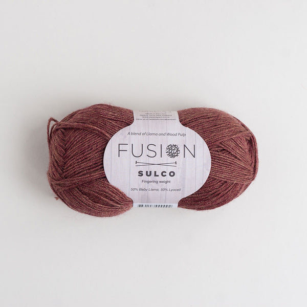Fusion Sulco Llama/Lyocell 3 - 4 Ply Wool Equivalent - Raspberry