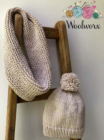 Knitting Pattern Download - Abbraccio Cowl and Beanie