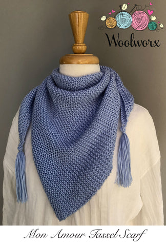 Knitting Pattern Download - Tassel Scarf