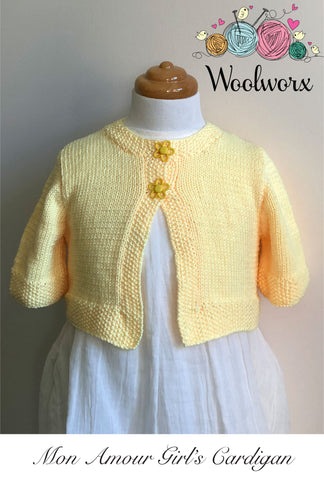Knitting Pattern Download - Girl's Cardigan