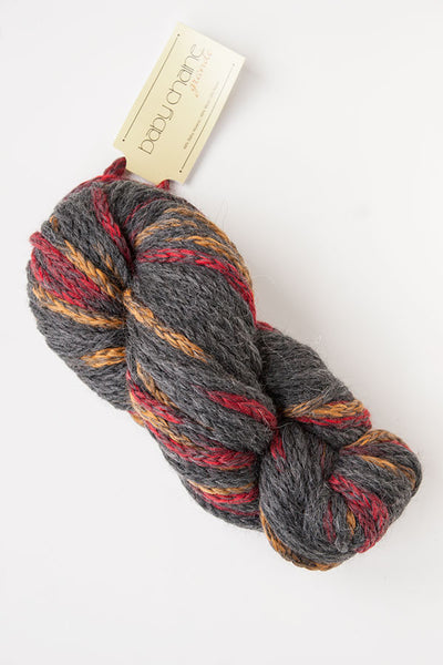 Alpaca-Merino Chunky Chaine 20 Ply Wool Equivalent - Grey/Gold/Red