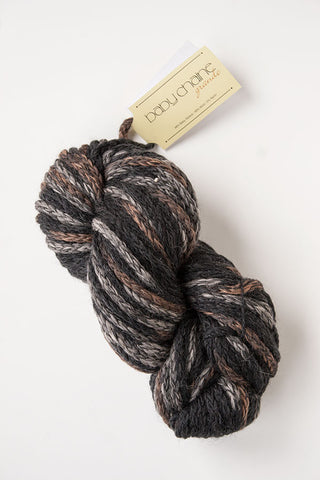 Alpaca-merino chunky yarn black/grey/Brown
