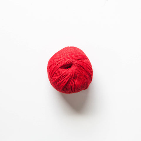 Indiecita 100% Baby Alpaca 4 Ply Wool Equivalent - Bright Red