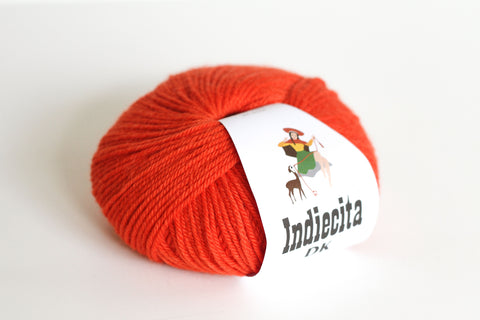 Indiecita 100% Baby Alpaca DK - 8 Ply Wool Equivalent - Orange