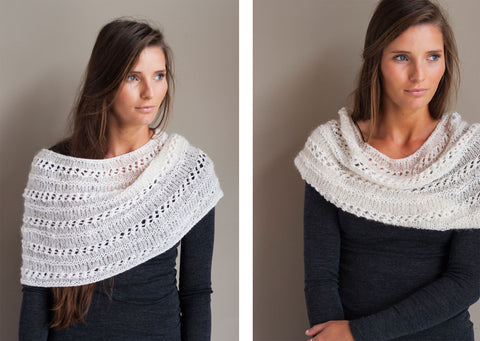 Knitting Pattern Download - Alpaca Suri Silk Shrug