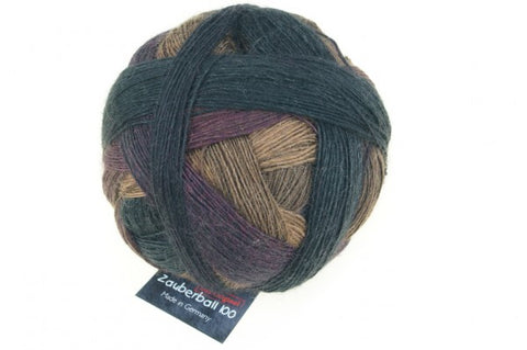 Zauberball 100 4 Ply Merino Wool -  Simple Spruce 2324