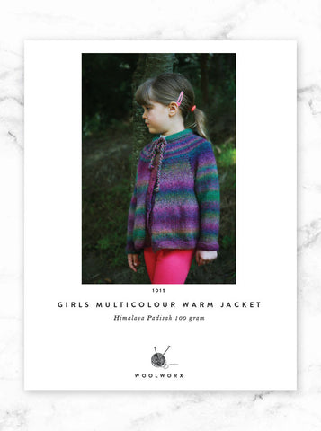 FREE knitting pattern download Girls Multicolour Jacket - Himalaya Padisah