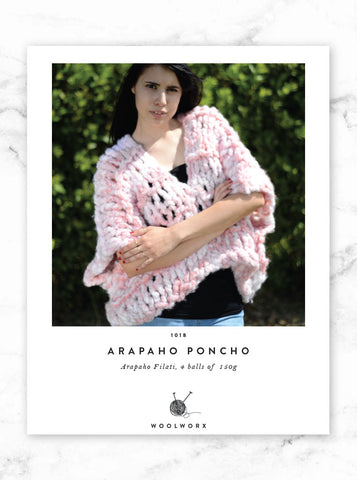FREE knitting pattern download Poncho - Arapaho