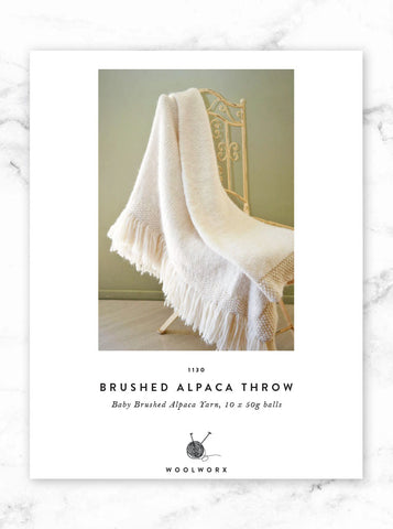 FREE knitting pattern download Beautiful Throw - Baby Alpaca Brushed