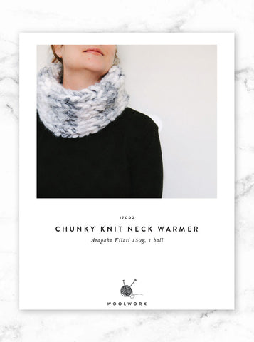 FREE knitting pattern download - Arapaho Chunky Knit Neck Warmer