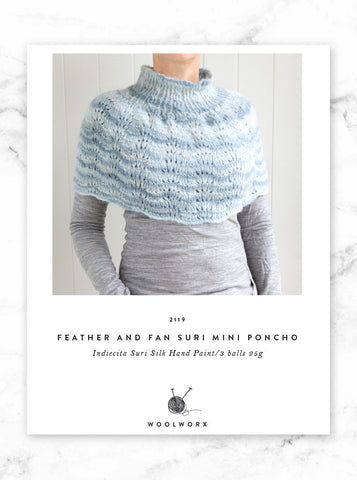 FREE knitting pattern download Mini Poncho 2119 - Alpaca Suri Handpaints