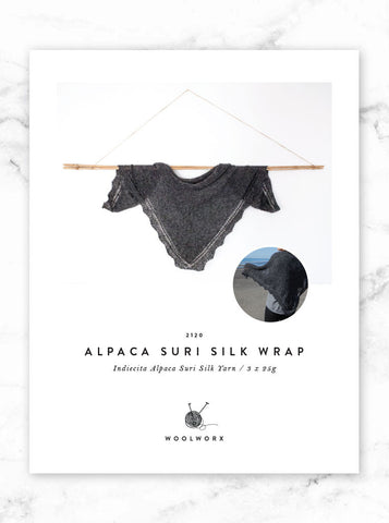 FREE knitting pattern download - Alpaca Suri Silk Wrap 2120