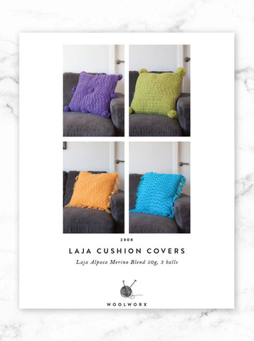 FREE knitting pattern download - Laja Alpaca Merino Cushion Covers