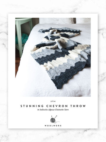 FREE Alpaca Chevron Throw knitting pattern download 2714
