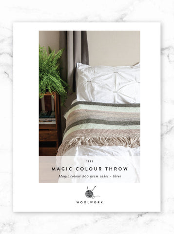 FREE knitting pattern download - Magic Colour Throw