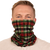 30-Day adult silver Cloth gaiter with silver particles, washable and wearable up to 30 times | Christmas tartan