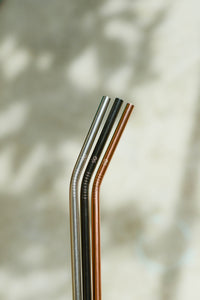 Bent Steel Straw