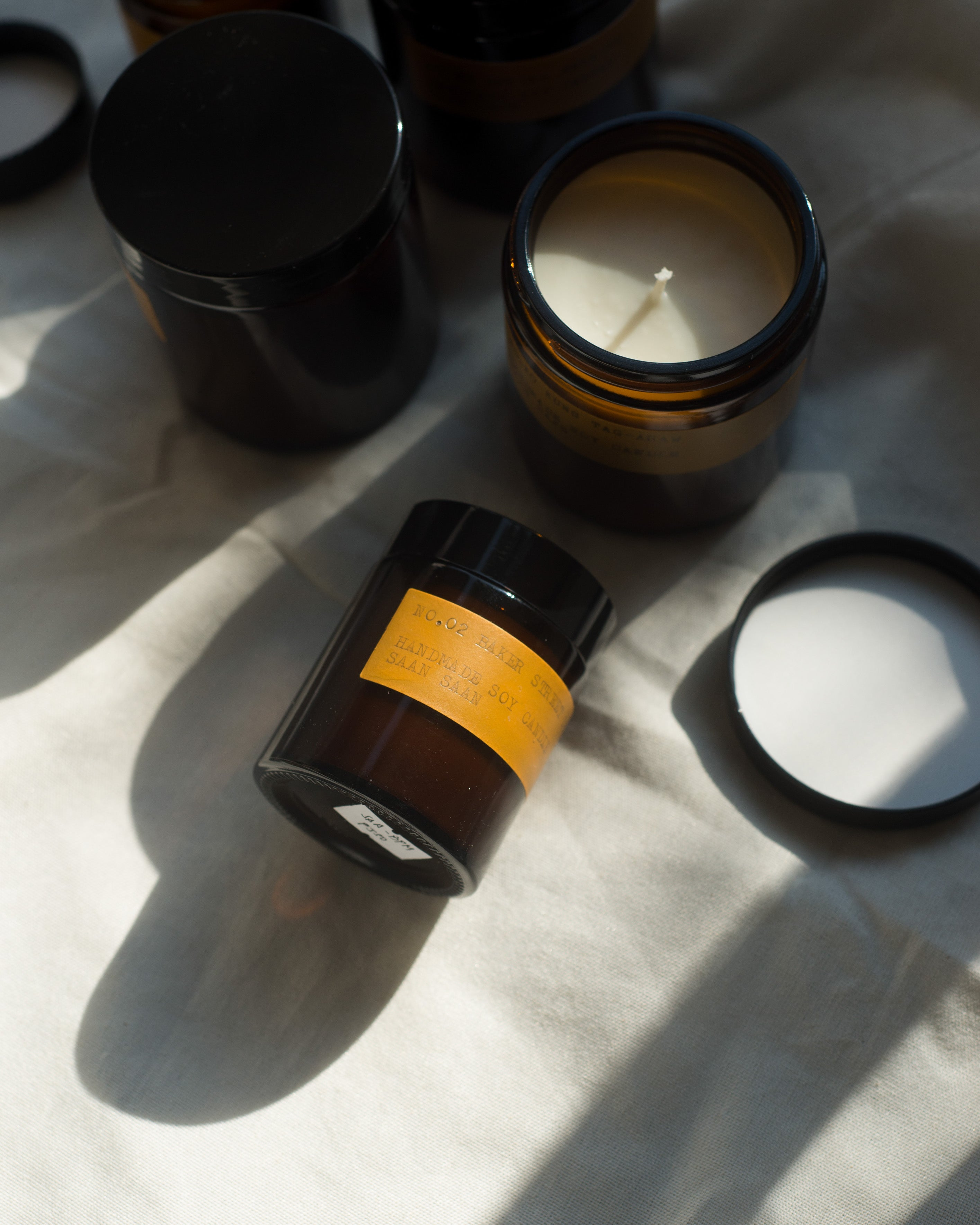 Soy Candle in Amber Jar (Mini)