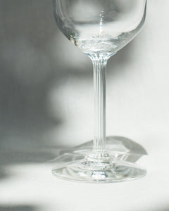 Wine Glass with Striped Stem