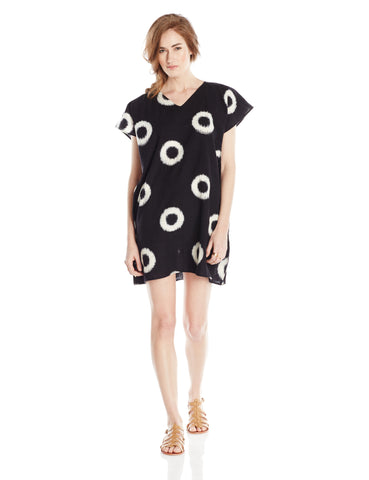 Black and White Jellyfish Caftan Dress