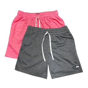 NOIX Neon Pink and Dark Grey Walk Shorts BUNDLE