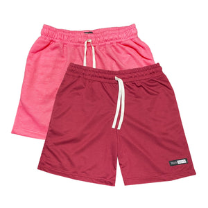 NOIX Neon Pink and Maroon Walk Shorts BUNDLE