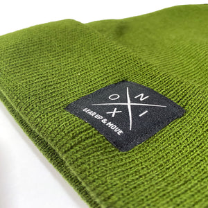 NOIX Olive Green Beanie for Men and Women