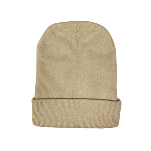 NOIX Beige Beanie for Men and Women