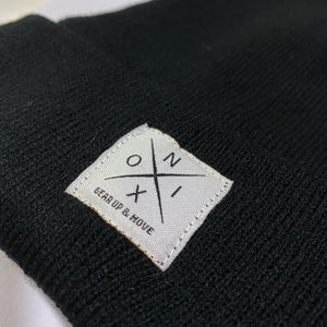 NOIX Black Beanie for Men and Women