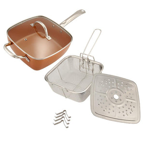 Non-stick Copper Pan 4 Pieces Cookware Set