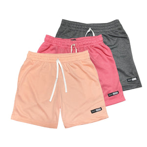 NOIX Peach, Neon Pink, and Dark Grey Walk Shorts BUNDLE