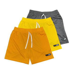 NOIX Ocre, Yellow, and Dark Grey Walk Shorts BUNDLE